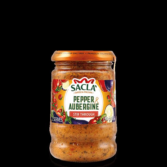 Pepper and aubergine pasta sauce