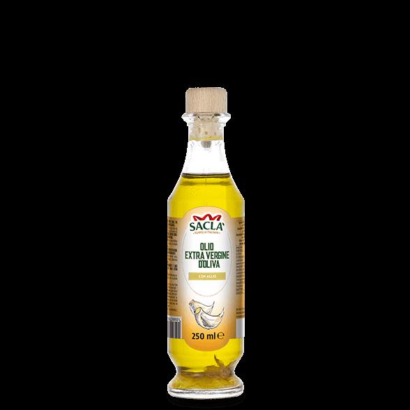 Extra virgin olive oil seasoning with garlic